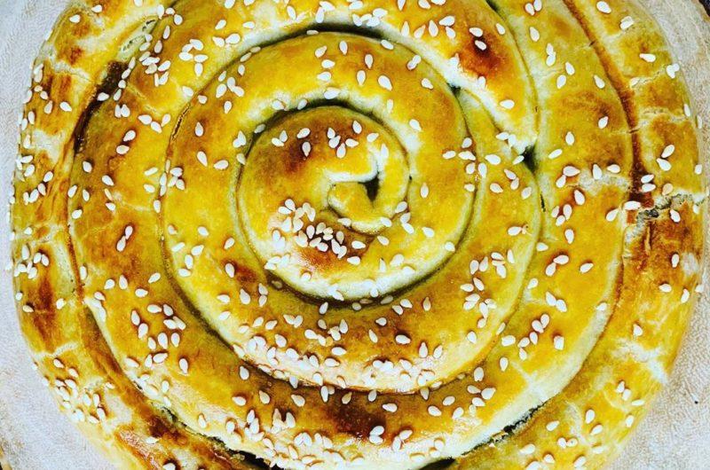 Spirale di pasta sfoglia con verdure