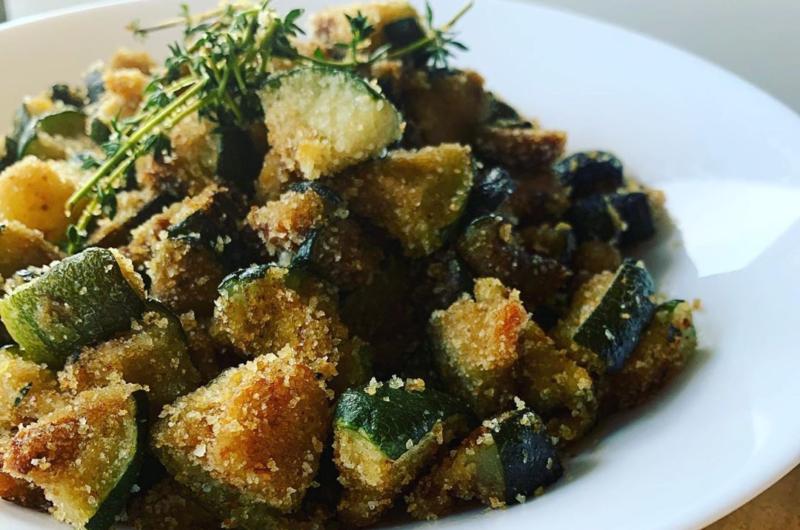 Zucchine in padella con pangrattato