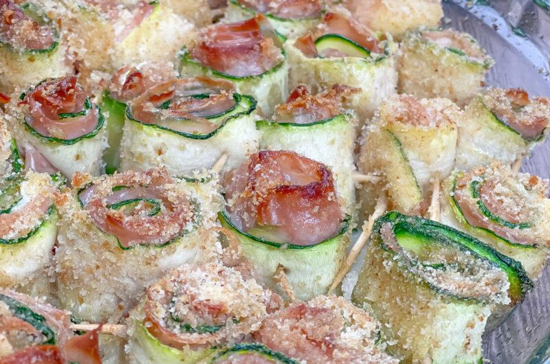 Roselline di zucchine mortadella e formaggio