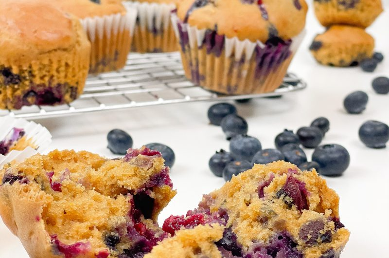 Muffin vegani ai mirtilli